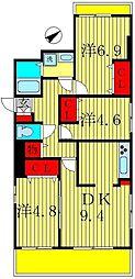 COMFORTHILL上本郷[2階]の間取り