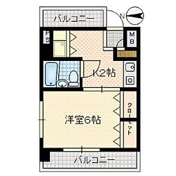 ライオンズマンション川崎大師第2[405号室]の間取り