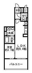 クリオ元浅草[702号室]の間取り