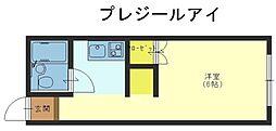 プレジールアイ[2階]の間取り