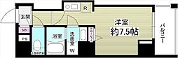 JR京葉線 越中島駅 徒歩16分の賃貸マンション 5階ワンルームの間取り