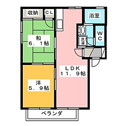 クライネスハイム[2階]の間取り