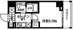 横浜市営地下鉄ブルーライン 吉野町駅 徒歩3分の賃貸マンション 1階1Kの間取り