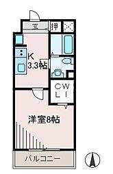 カロス新百合[3階]の間取り