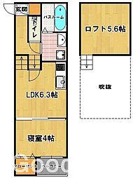 アーバンテラス 東那珂[2階]の間取り