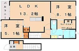 ピュアフレンド3[2階]の間取り