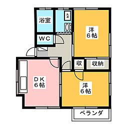 デュアル釜井台I[2階]の間取り