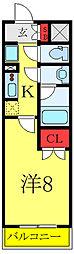 (仮称)レオーネ高島平 6階1Kの間取り