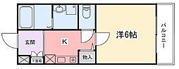 土山中村コーポII[3階]の間取り