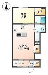(仮称)日野市万願寺新築アパート[101号室]の間取り