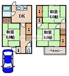 [一戸建] 大阪府堺市西区神野町1丁 の賃貸【/】の間取り