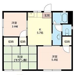 [一戸建] 神奈川県藤沢市西俣野 の賃貸【/】の間取り
