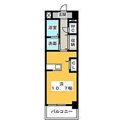 カラフル ウェーブ[2階]の間取り