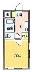 ピ・アーノ[301号室]の間取り