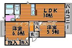 シャーメゾン杏樹[1階]の間取り