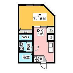キルシェ桜本町[2階]の間取り