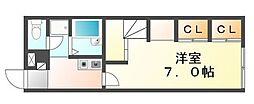 JR予讃線 宇多津駅 徒歩11分の賃貸アパート 2階1Kの間取り