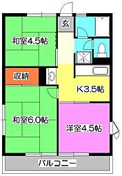 シティハイムエムティB棟[2階]の間取り