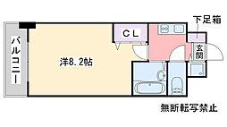シャインシティ百道[603号室]の間取り