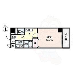 (仮)西大寺南マンション 6階1Kの間取り