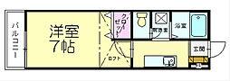 サンシャイン内橋[1階]の間取り