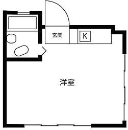 東京都新宿区百人町3丁目の賃貸マンションの間取り