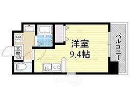 仮)都島本通4丁目新築マンション 3階ワンルームの間取り