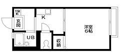 東京都台東区池之端3丁目の賃貸アパートの間取り