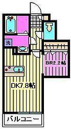 ルミエールu2[2階]の間取り