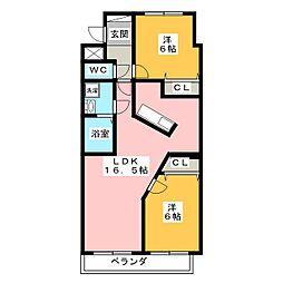 シャトレ平野[7階]の間取り