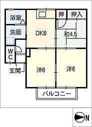 サニーコート C棟[2階]の間取り
