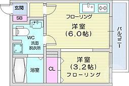 JR仙山線 国見駅 徒歩1分の賃貸アパート 1階1DKの間取り