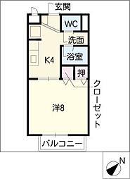 リバーサイドハイツ[2階]の間取り