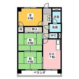 サクセス米本[4階]の間取り
