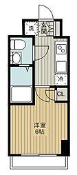 東急東横線 妙蓮寺駅 徒歩11分の賃貸マンション 2階1Kの間取り