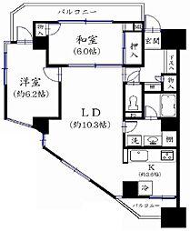 東京都葛飾区新宿1丁目の賃貸マンションの間取り