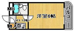 ラフォーレ助松[4F号室]の間取り