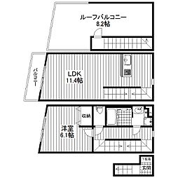 東京都杉並区永福4丁目の賃貸マンションの間取り