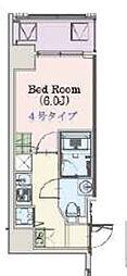 Osaka Metro千日前線 阿波座駅 徒歩3分の賃貸マンション 3階1Kの間取り