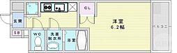 エス・キュート梅田東 6階1Kの間取り