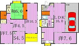 [一戸建] 千葉県白井市根 の賃貸【/】の間取り