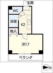 ヤマサン大橋通ビル[2階]の間取り