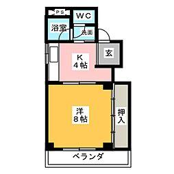 コーポ禅台寺[4階]の間取り