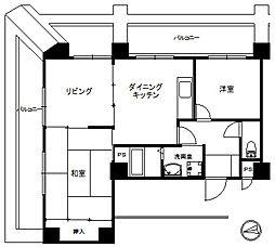 グランピア萬翠園[4階]の間取り