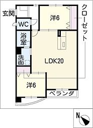 TI−DA横山マンション[1階]の間取り