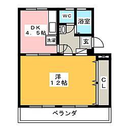 メゾン健和[3階]の間取り