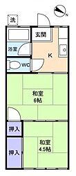 白石荘[1階]の間取り