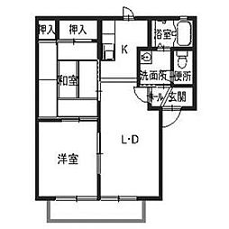 パーミーハイツ[2階]の間取り