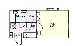 ベルグ新松戸[2階]の間取り
