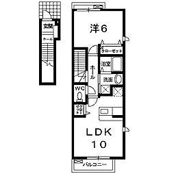エスペランサ1[2階]の間取り